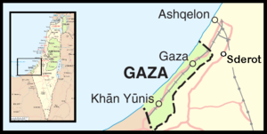 Gaza conflict map